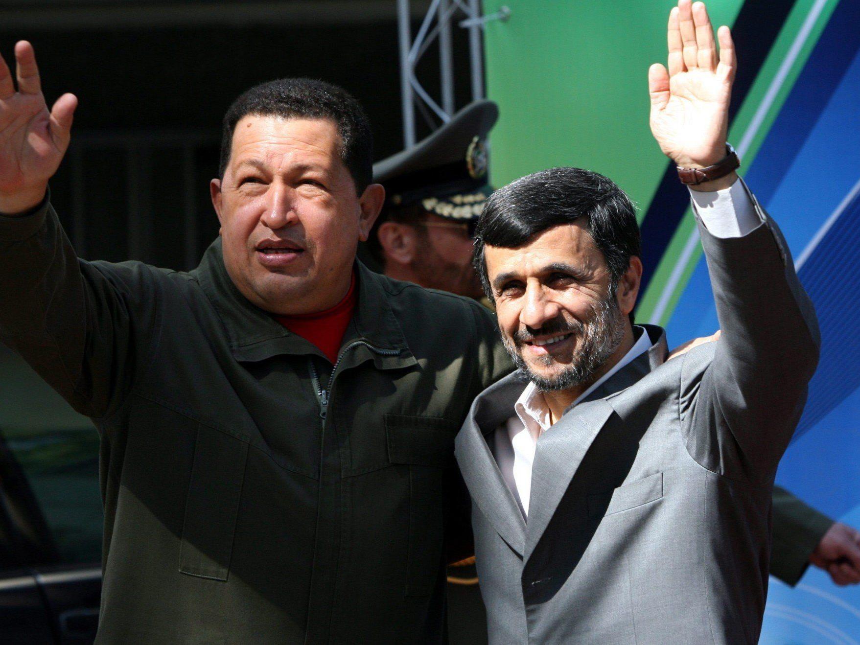 Chavez und Ahmadinejad pflegten eine persönliche Freundschaft.