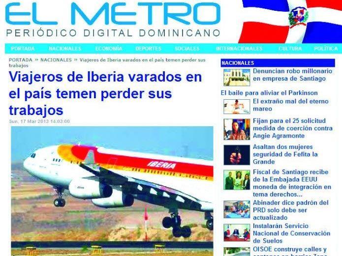 Der Flugausfall fand auch in der dominikanischen Presse Beachtung.