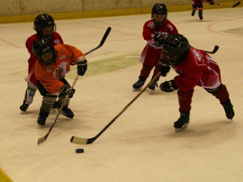 150 Kids waren beim Eishockey-Lernprogramm des VEHV mit Eifer dabei.