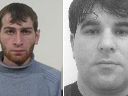 Die Polizei fahndet nach diesen beiden Männern: Aslan S. und Dzimhazi W.