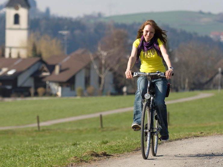 Die Vorarlberger sind die fleißigsten Fahrradfahrer.