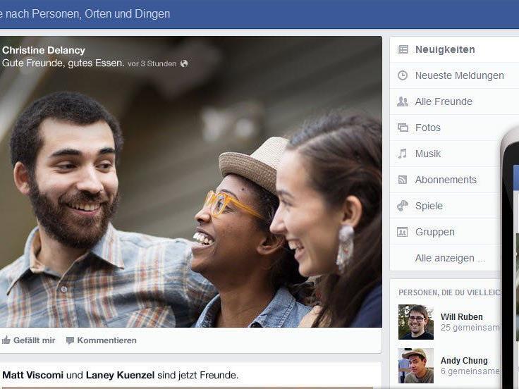 Facebook gestaltet Newsfeed für über eine Milliarde Mitglieder um.