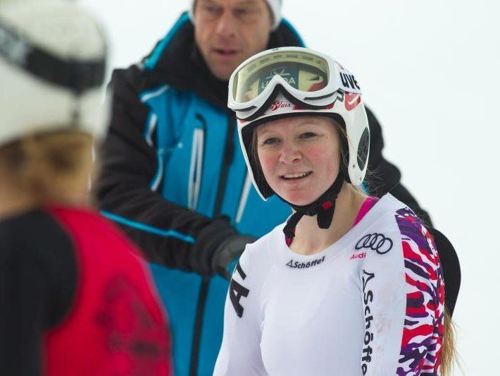 Ariane Rädler aus Möggers gewann das erste von zwei Rennen in Mellau.