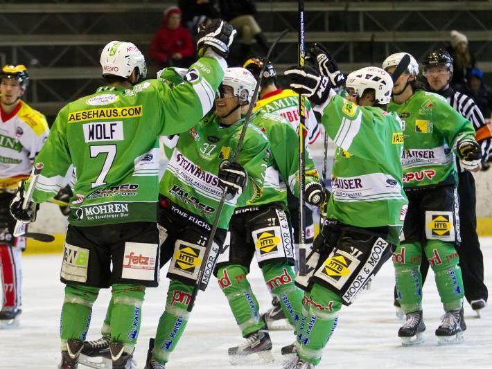 Mit zwei Heimsiegen darf der EHC Bregenzerwald vom Finaleinzug träumen.