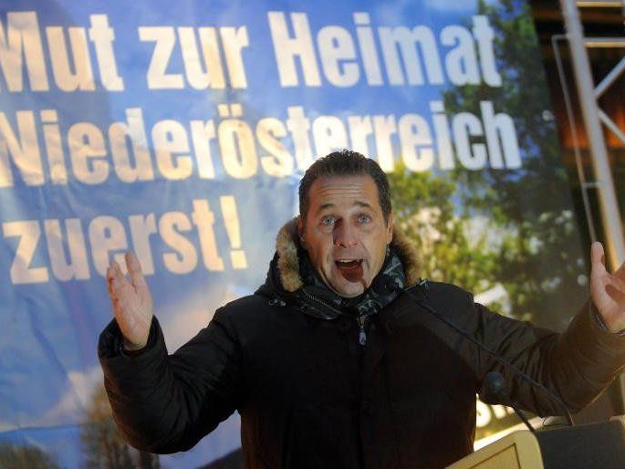Strache pocht für die FPÖ in Niederösterreich.