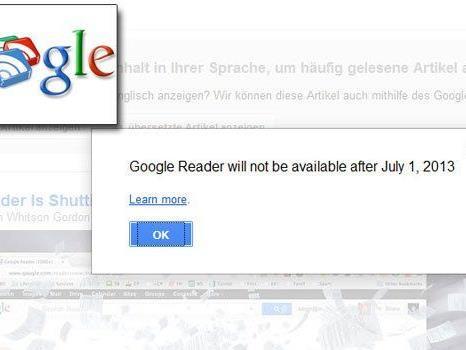 Am ersten Juli gehen nach acht Jahren die Lichter aus: Google stampft den Reader ein.