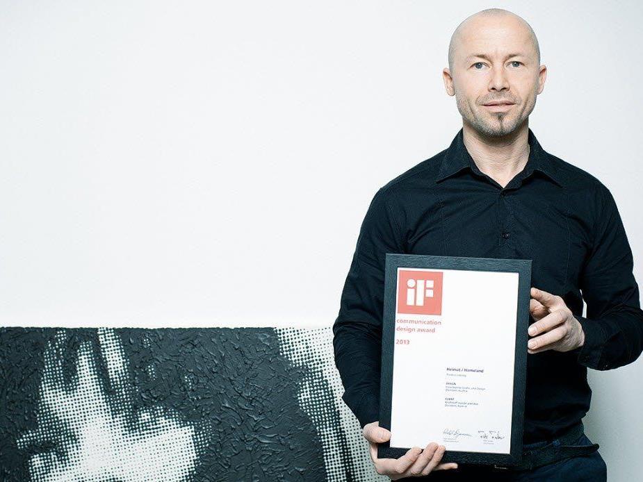 Internationale Auszeichnung IF award für Dornbirner Grafikdesigner Andreas Haselwanter.