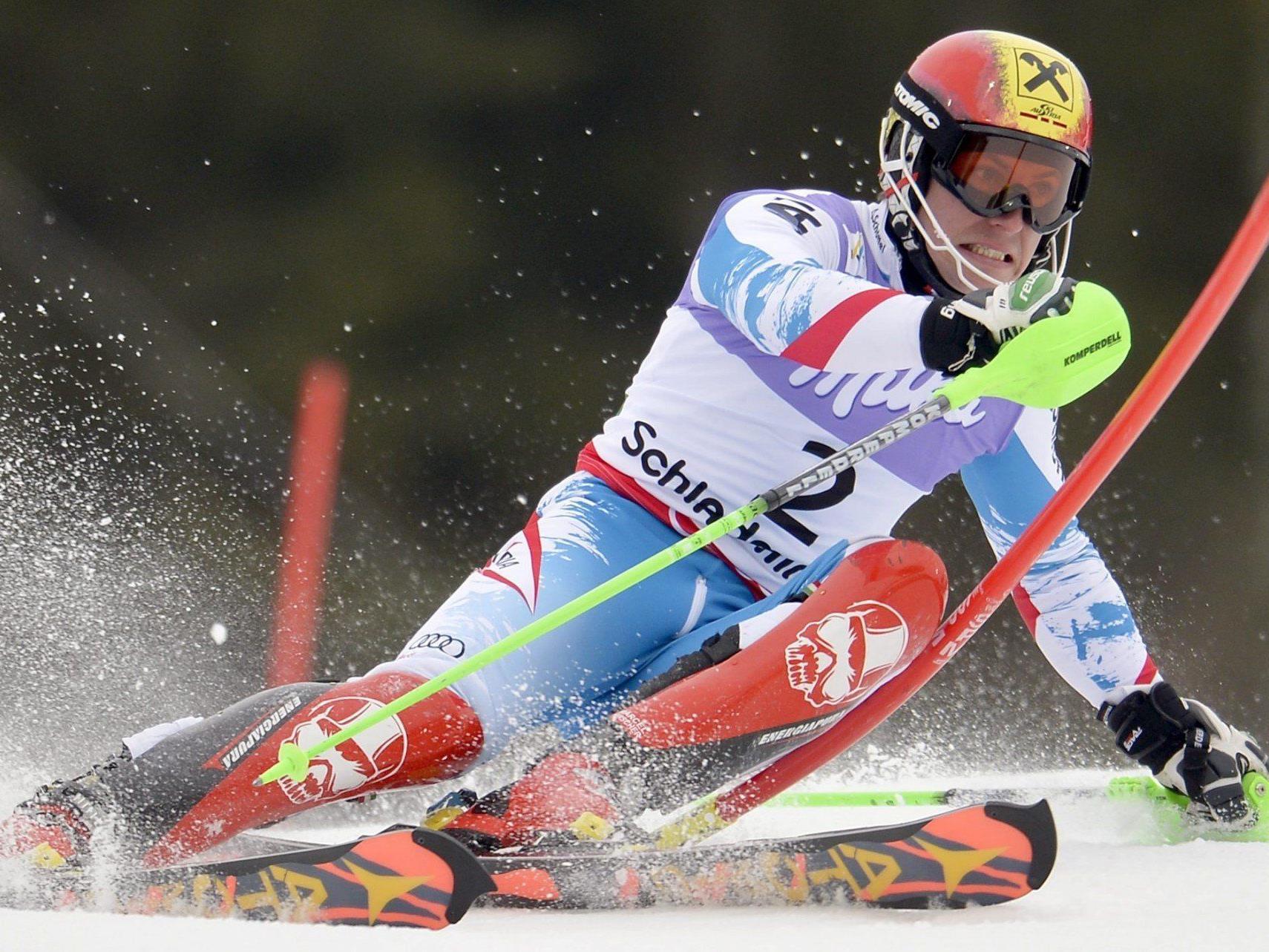 """Marcel Hirscher hofft im Slalom von Kranjska Gora auf die """"Big Points""""."""