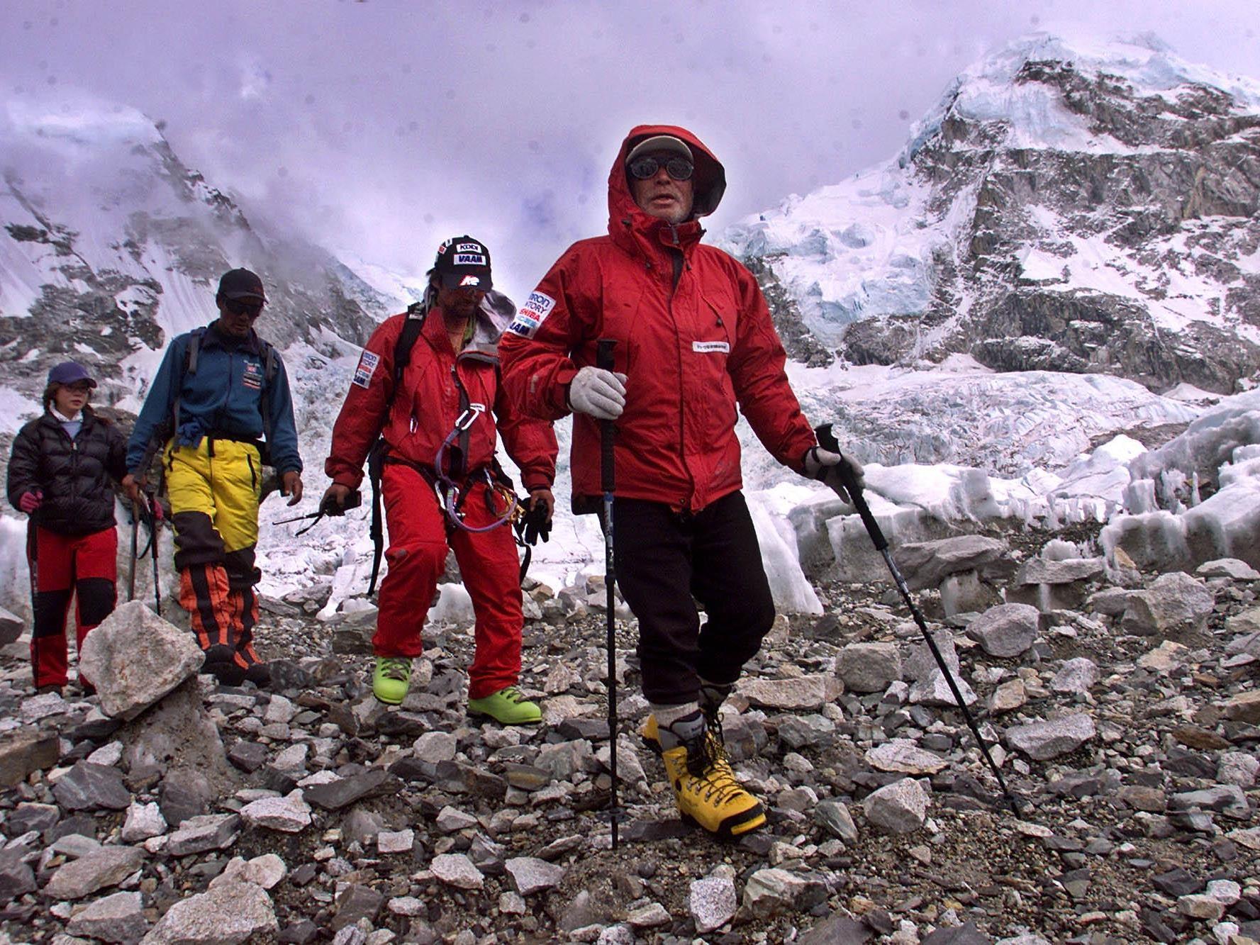 Der Japaner Yuichiro Miura hat den Mount Everest auch schon mit 70 Jahren bezwungen.