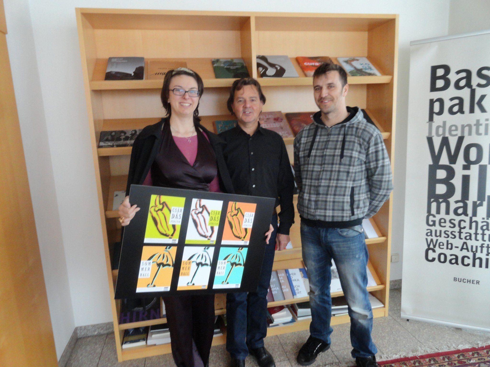 Margit Hinterholzer, Günter Bucher und Bruno Reis