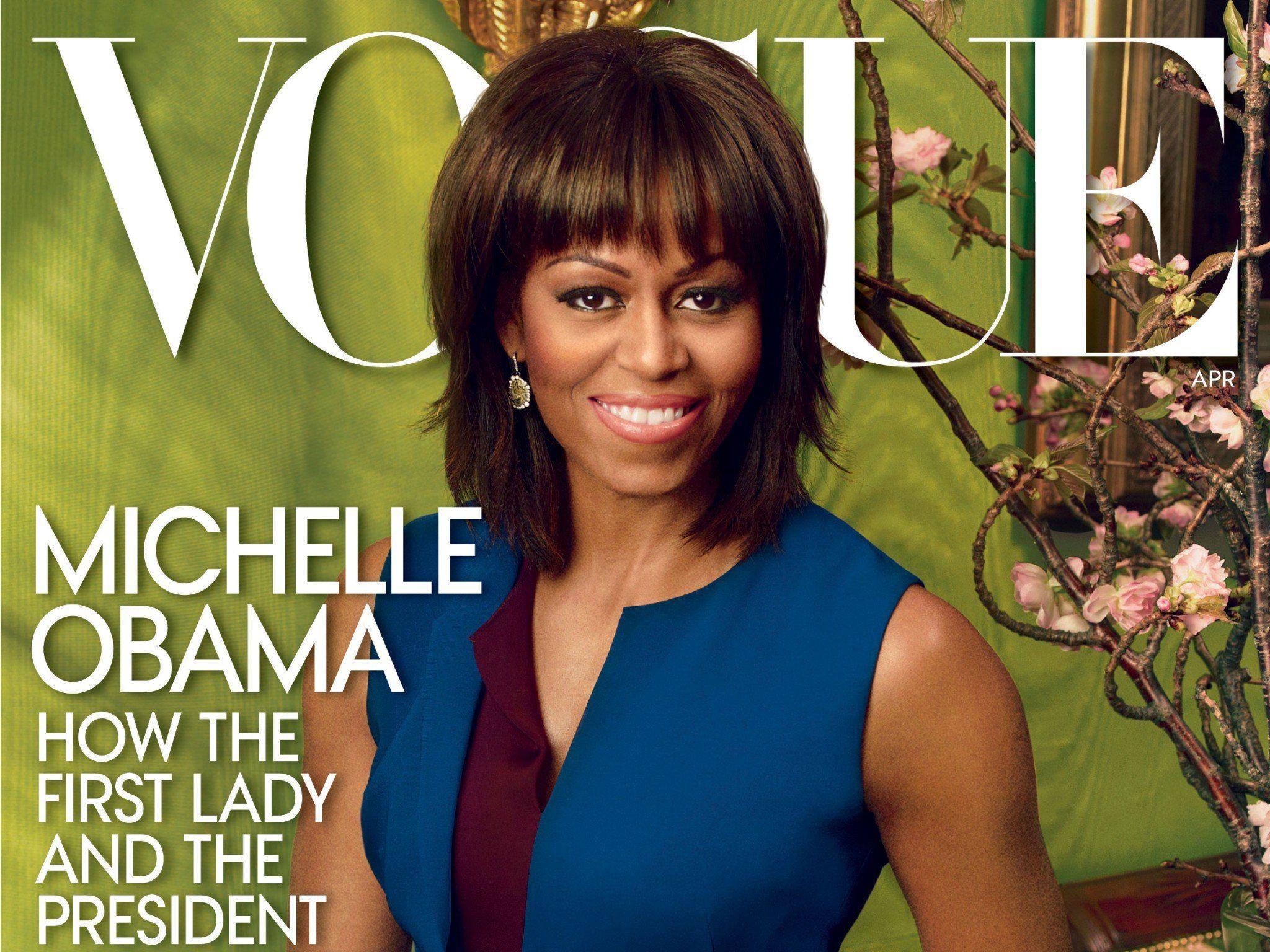 Die First Lady posiert schon das zweite Mal.