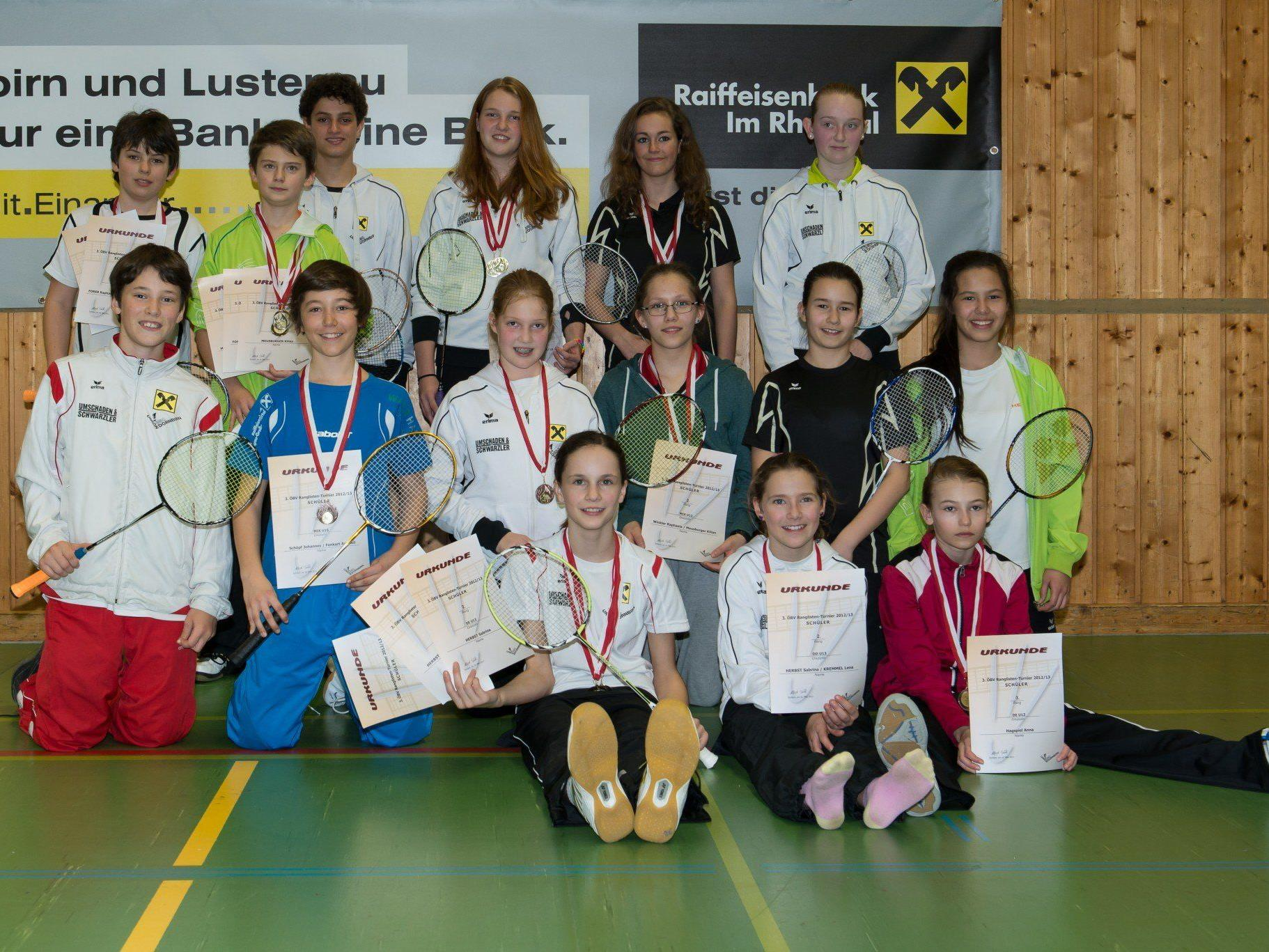 Jede Menge Siege für die jungen Badmintonspieler.