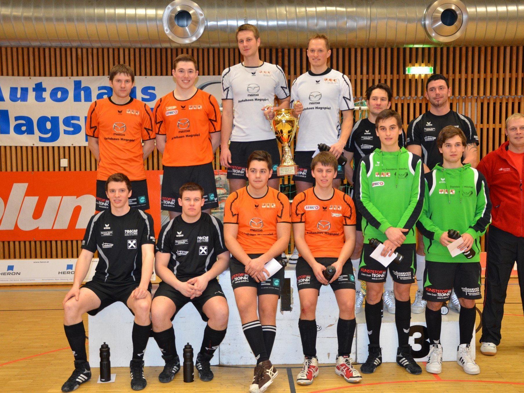 Alle Sieger beim Ö-Cup Finale der Radballer in Höchst.