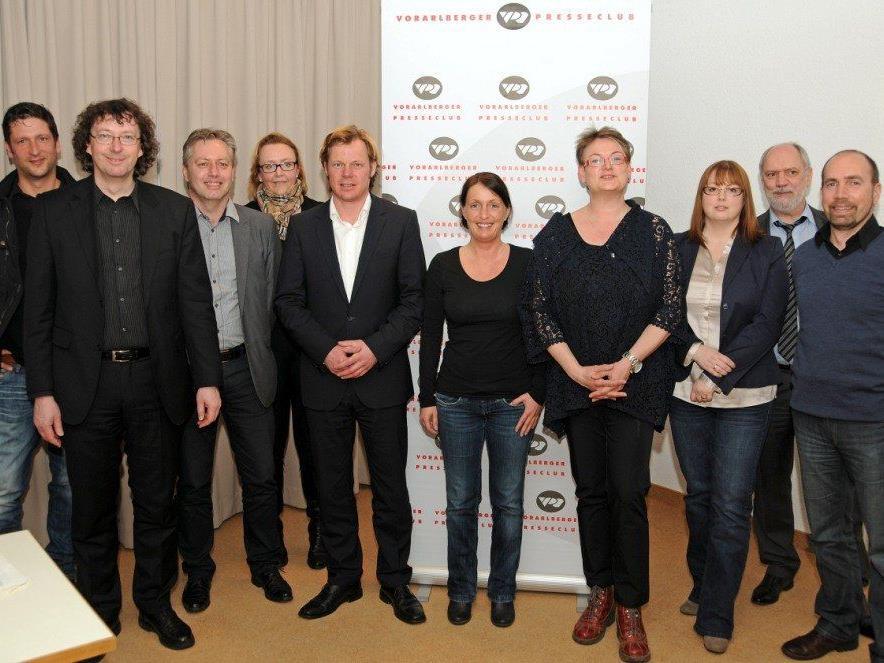 Der neu gewählte Vorstand des Vorarlberger Presseclubs.