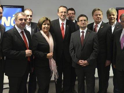 Das neue Team der SPÖ in Niederösterreich.