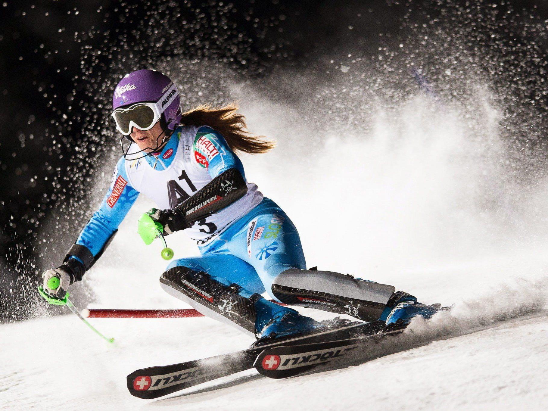 Für Tina Maze geht es um wichtige Punkte für den Slalom-Weltcup.