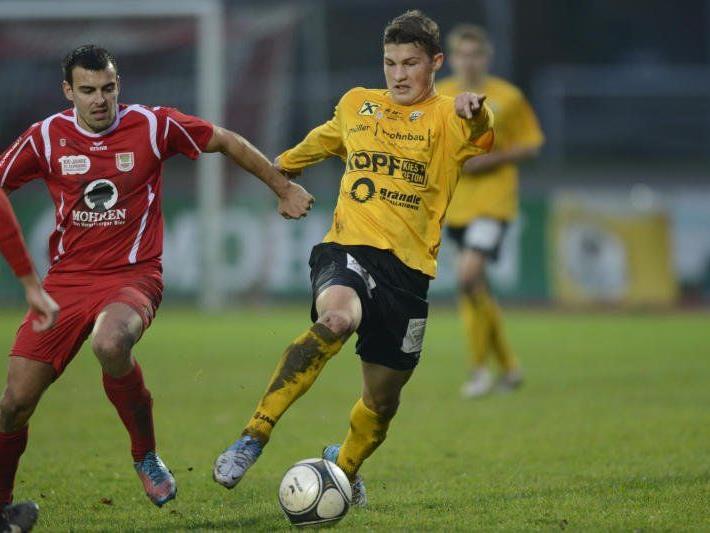 Altach-Kicker Christoph Domig will sich in naher Zukunft einen Stammplatz erkämpfen.