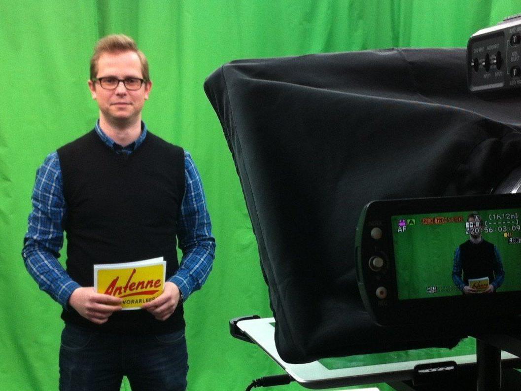 Neues News-Format: Vorarlberg in 100 Sekunden. Im Bild: Philipp Vondrak im Studio.