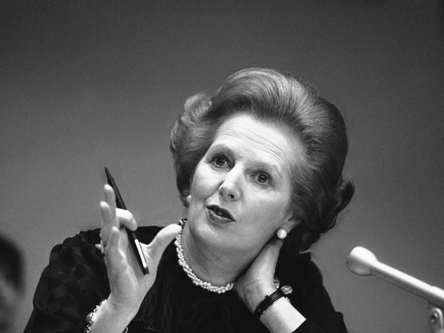 """Großbritanniens """"eiserne Lady"""" Margaret Thatcher ist tot."""