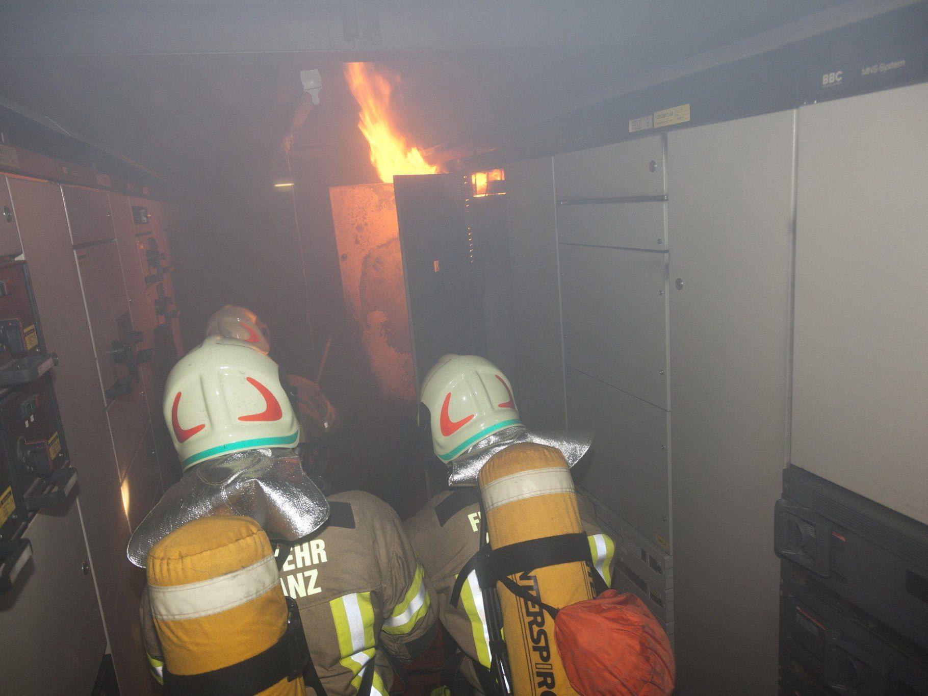 Frastanz: Im Niederspannungsraum brach Feuer aus.