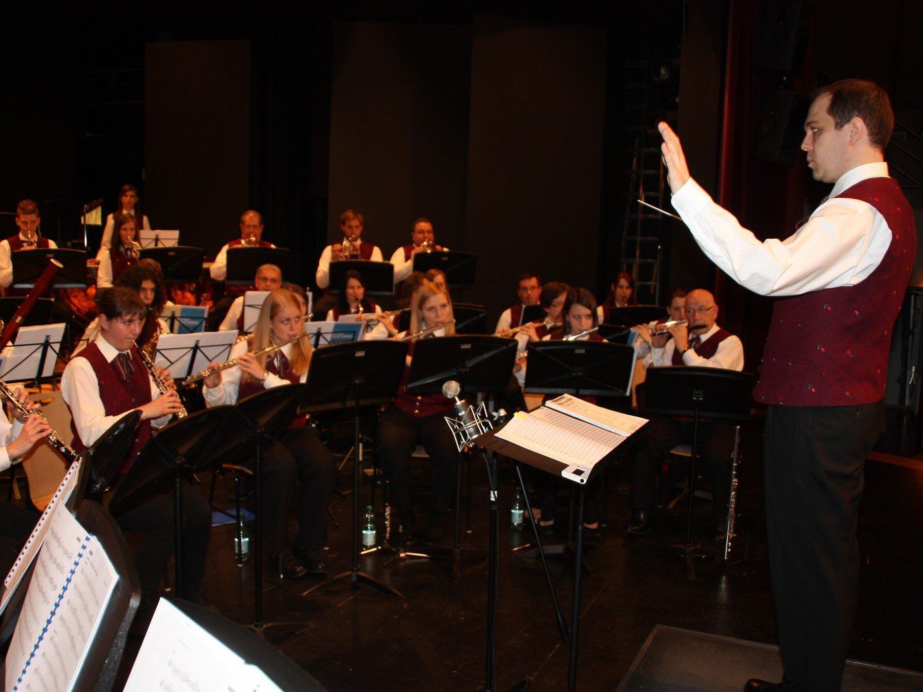 Mit dem MV Concordia Lustenau auf Erfolgskurs: Dirigent Christoph Gmeiner.
