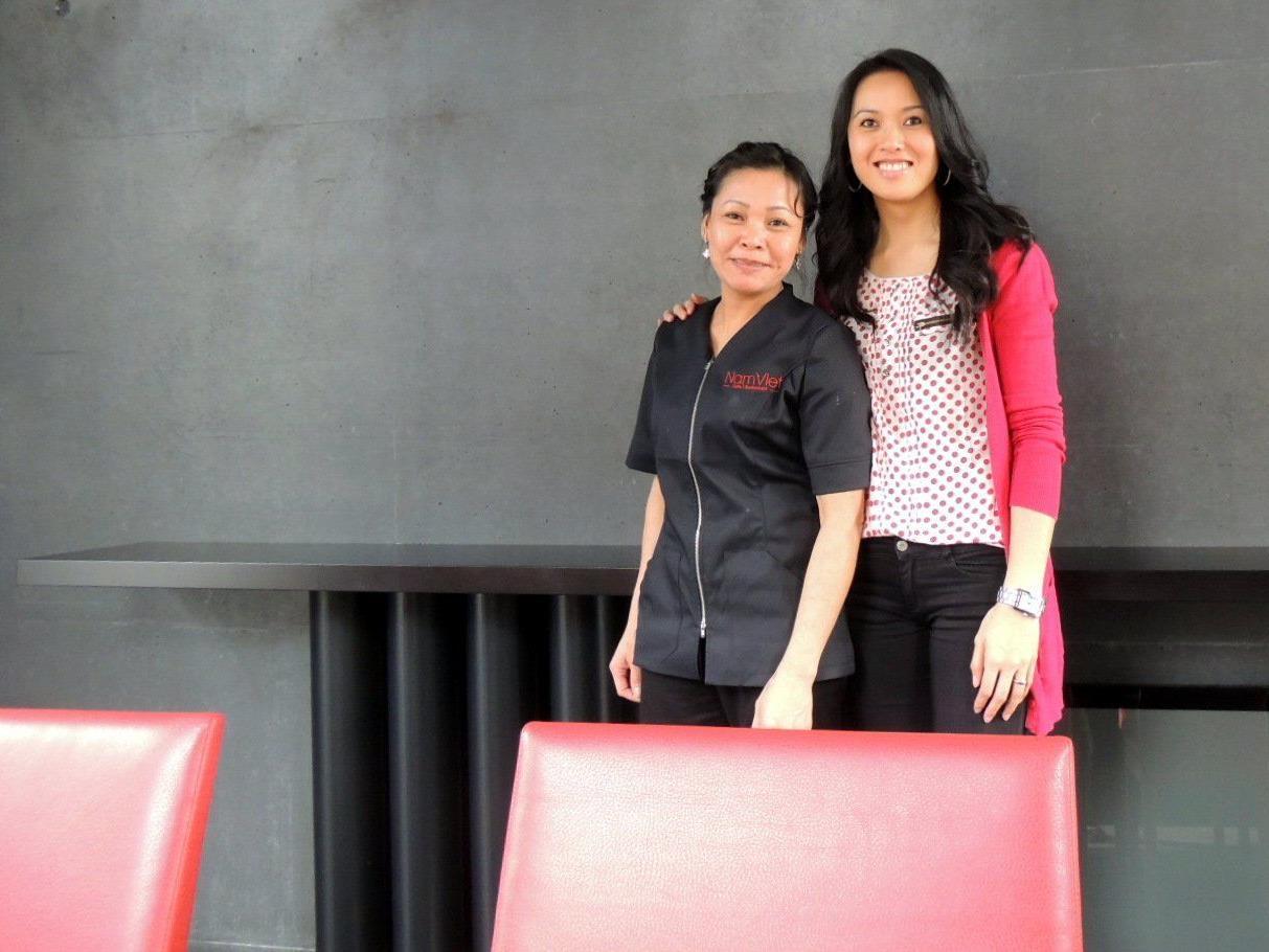 Lanh Autengruber und Thuy Haid eröffneten ihr neues Cafe