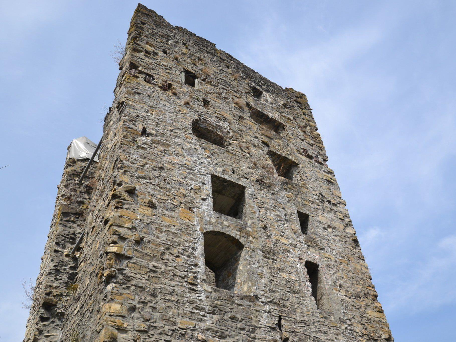 Auch die Götzner Ruine Montfort wird dieses Jahr von der
