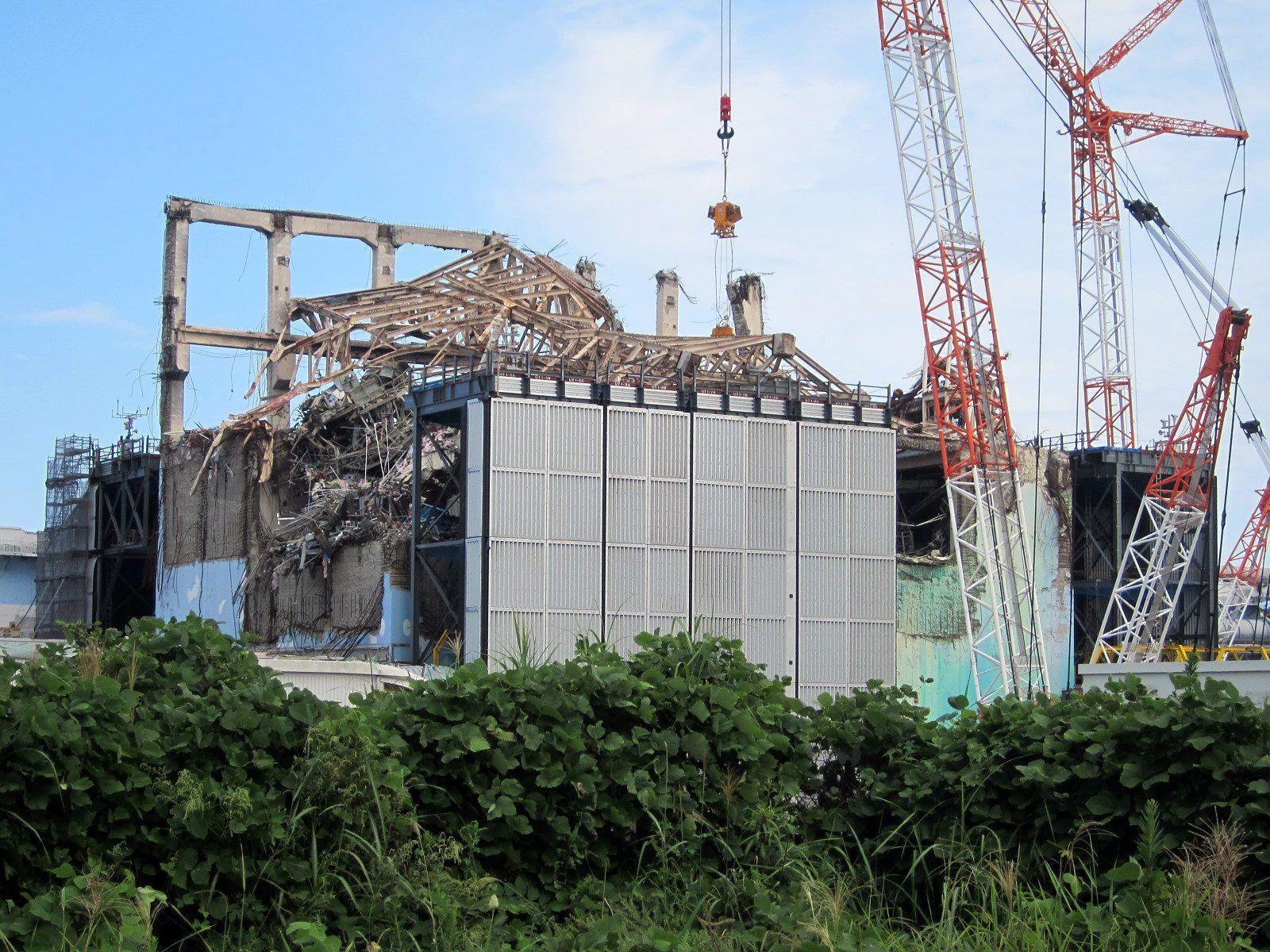 Der zerstörte Reaktor drei im Katastrophen-AKW Fukushima.