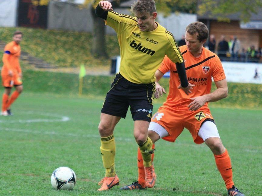 Höchst-Abwehrspieler Jonny Ruepp will gegen Alberschwende gewinnen und punktemäßig davonziehen.
