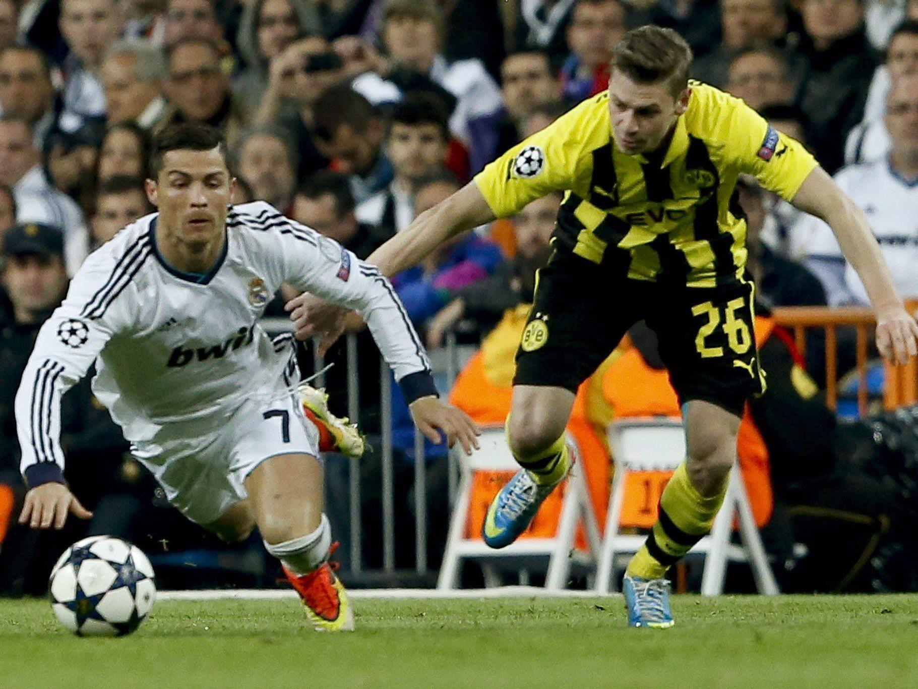 Fußball: Dortmund erreichte trotz 0:2 bei Real Madrid CL-Finale.