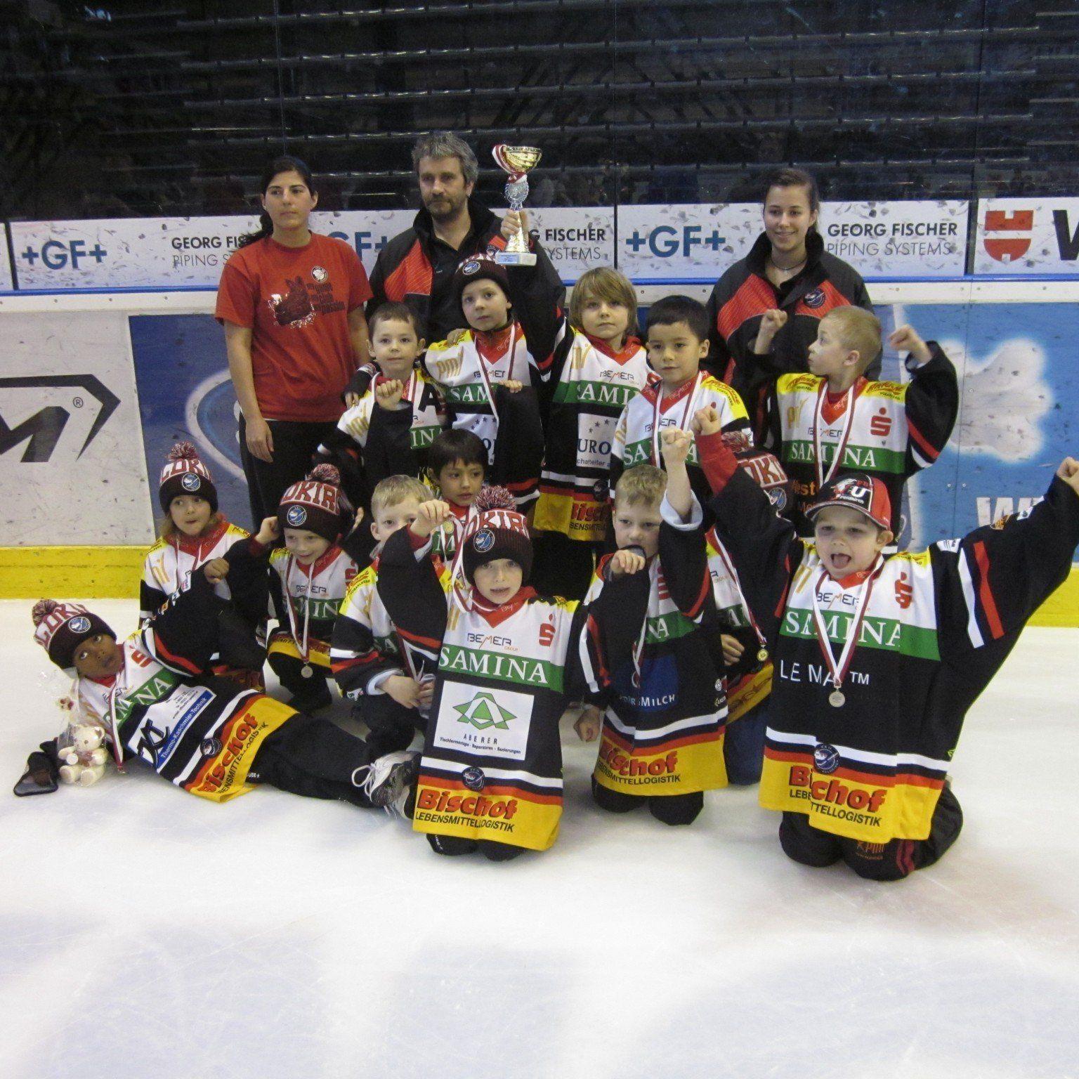 Die U-8-Mannschaft der VEU Feldkirch war beim internationalen Turnier in Bozen im Einsatz.