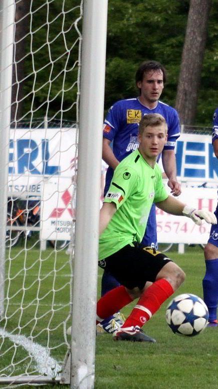 Der FC Hard trifft heute auf Austria Salzburg und Goalie Kevin Defranceschi will seinen Kasten rein halten.