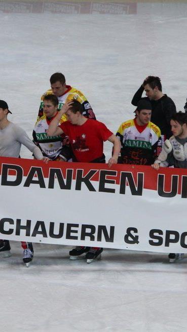 Die VEU Feldkirch bedankt sich bei den Fans und Sponsoren.