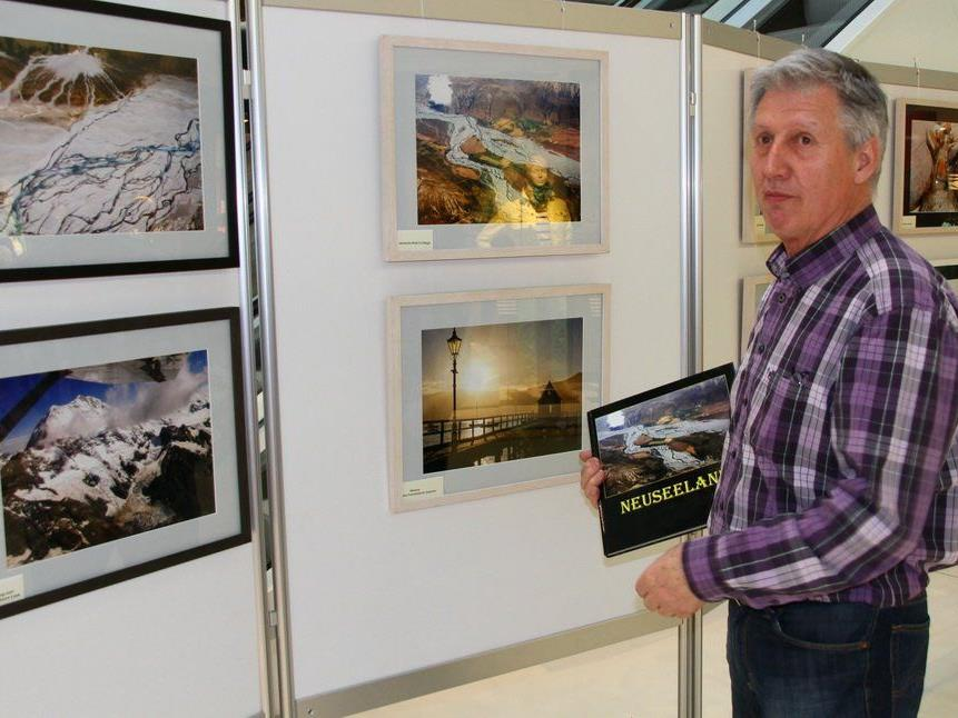 Der Nofler Stefan Stark präsentiert im Rankweiler Vinomnacenter seine Bilder zum Thema Neuseeland.
