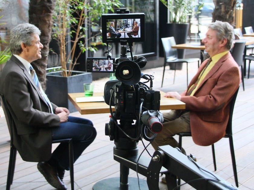 Dr. Gebhard Mathis stellte sich Ländle TV Geschäftsführer Günther Oberscheider den Fragen.