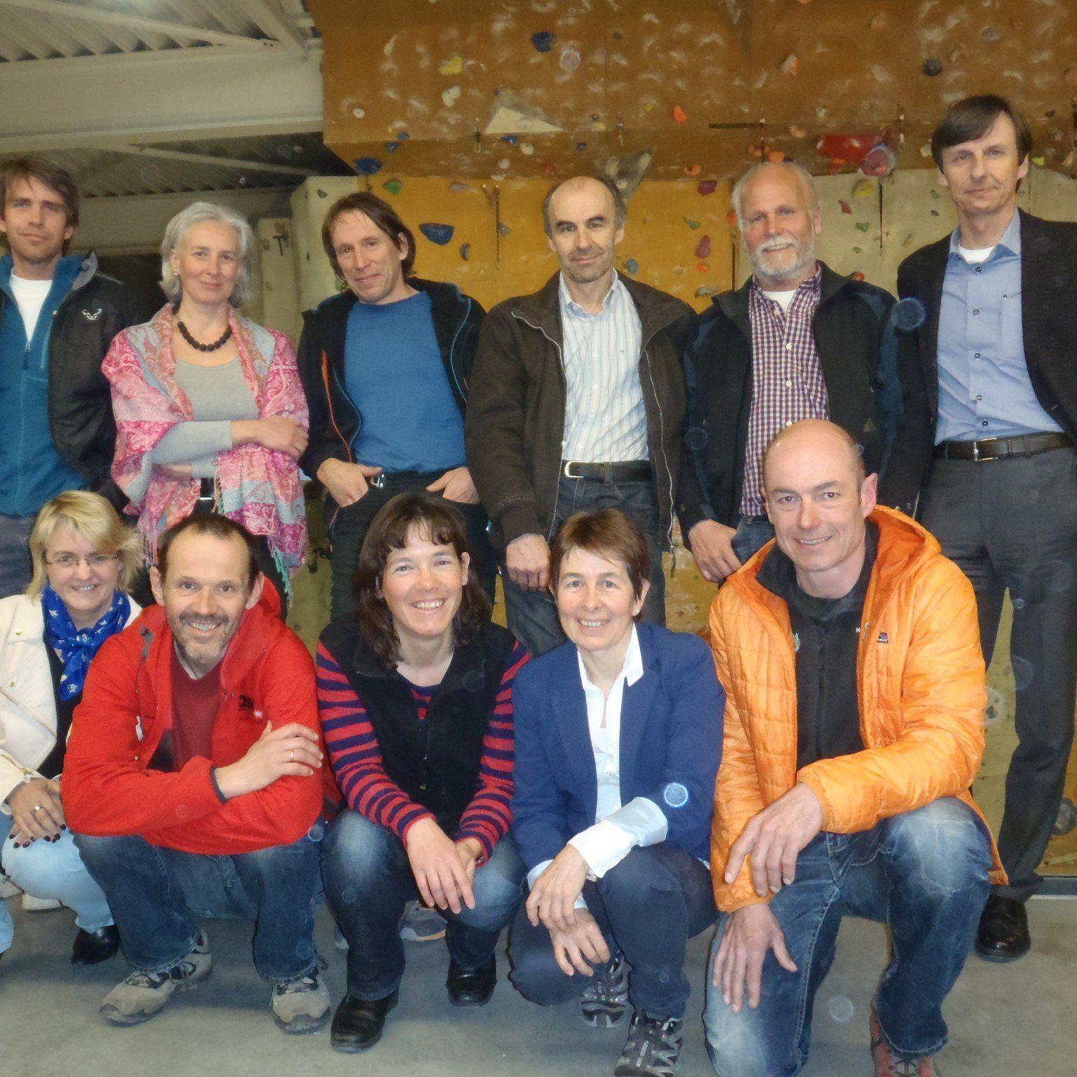 Der neugewählte Vorstand des Vorarlberger Wettkletterverband.