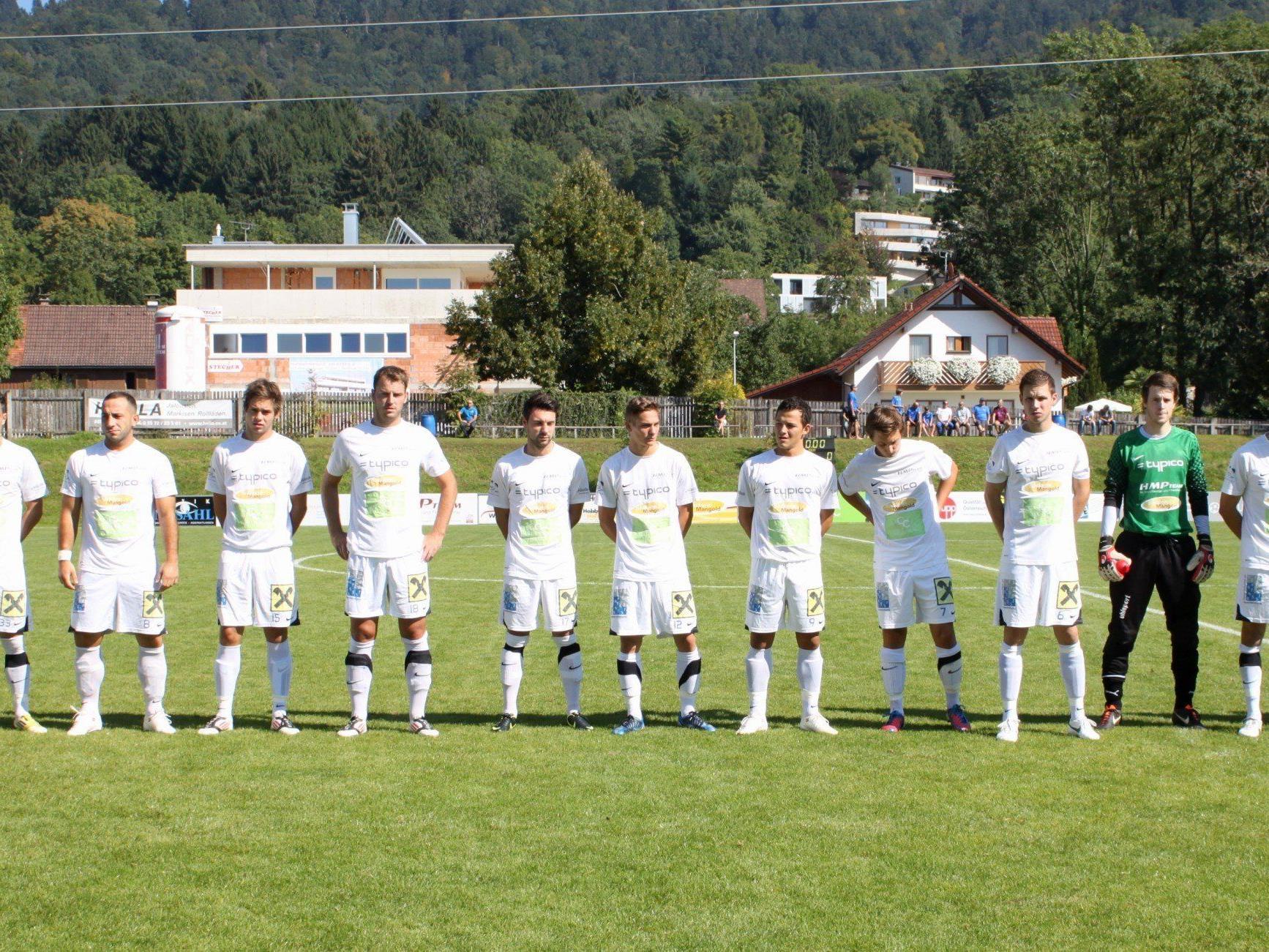 Das Team des SV Typico Lochau freut sich auf die Unterstützung zahlreicher Fans.