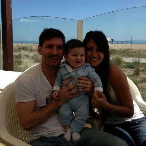 Thiago Messi in hellblau und weiß, wie es sich für einen echten Argentinier gehört.