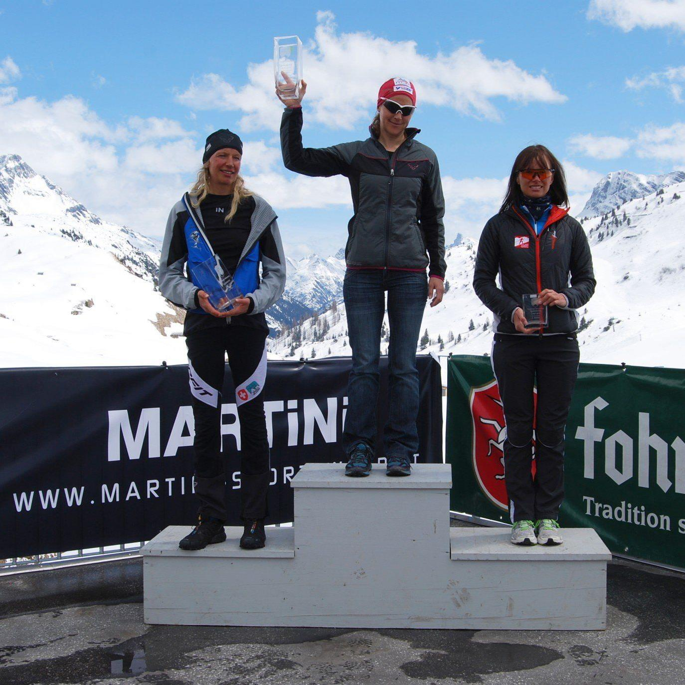 Die Dornbirnerin Michaela Feurle gewann den Tannberglauf in Warth.
