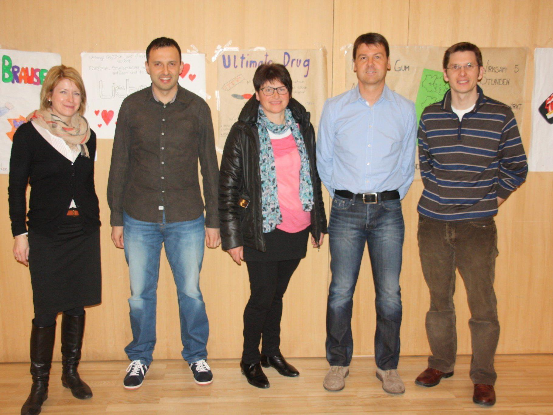 Heidi Achammer, Alexander Muxel, Frieda Moosbrugger, Dietmar Fetz und Martin Onder (v.l.)