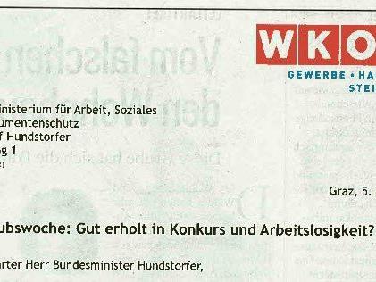 """6. Urlaubswoche - WKÖ in offenem Brief: """"Gut erholt in Arbeitslosigkeit"""""""