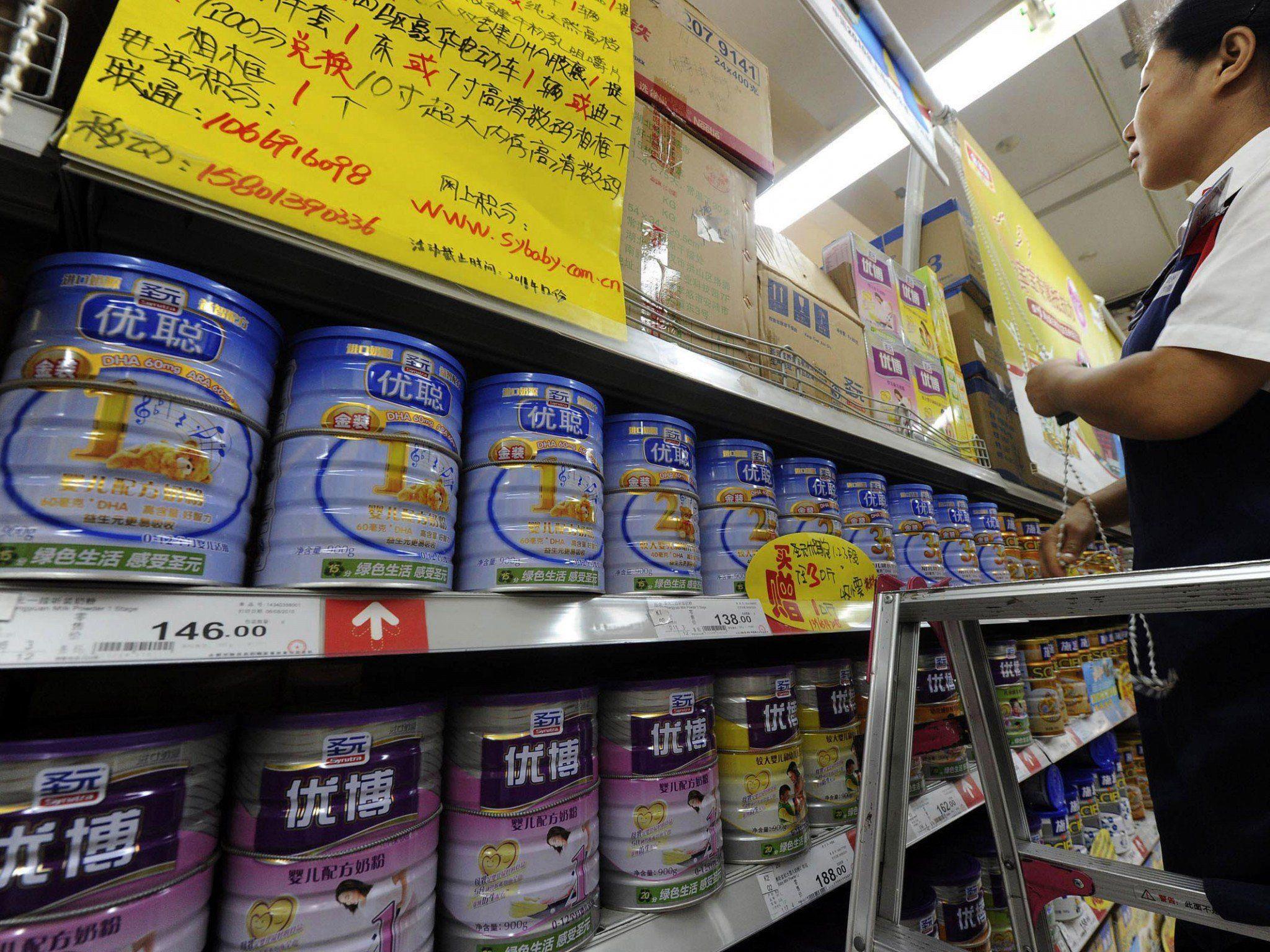 Heimischen Produkten trauen die Chinesen nicht mehr.