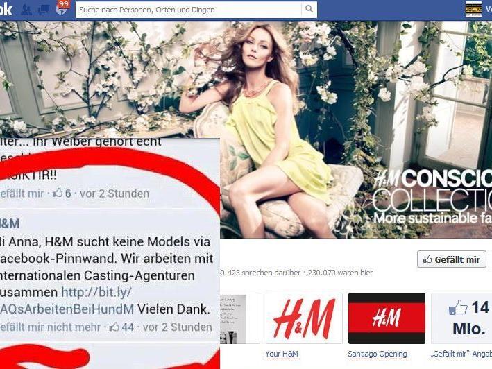 Shitstorm gegen H&M auf Facebook. Tausende posten ihre Bilder, andere sind verärgert.