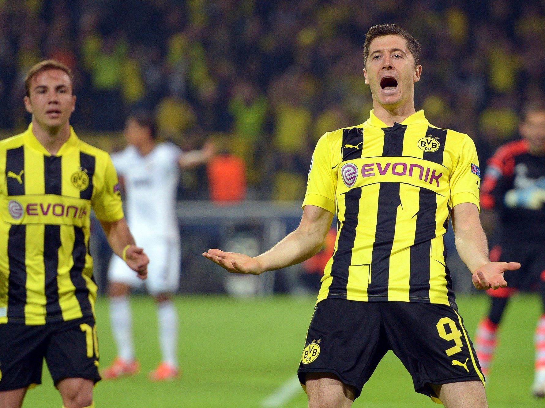 Lewandowski mit Viererpack.