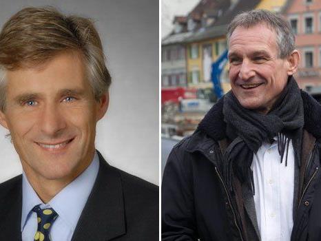 Michael Linhart (l.), Bruder des Bregenzer Bürgermeisters Markus Linhart (r.), wird Spitzenbeamter im Außenministerium.