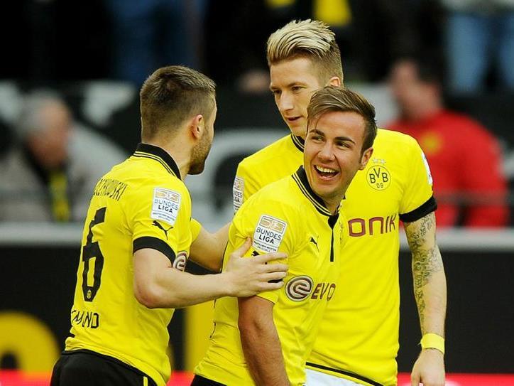 Noch trägt Götze das Dortmunder Trikot