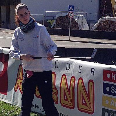 Lara Jehle in Aktion.