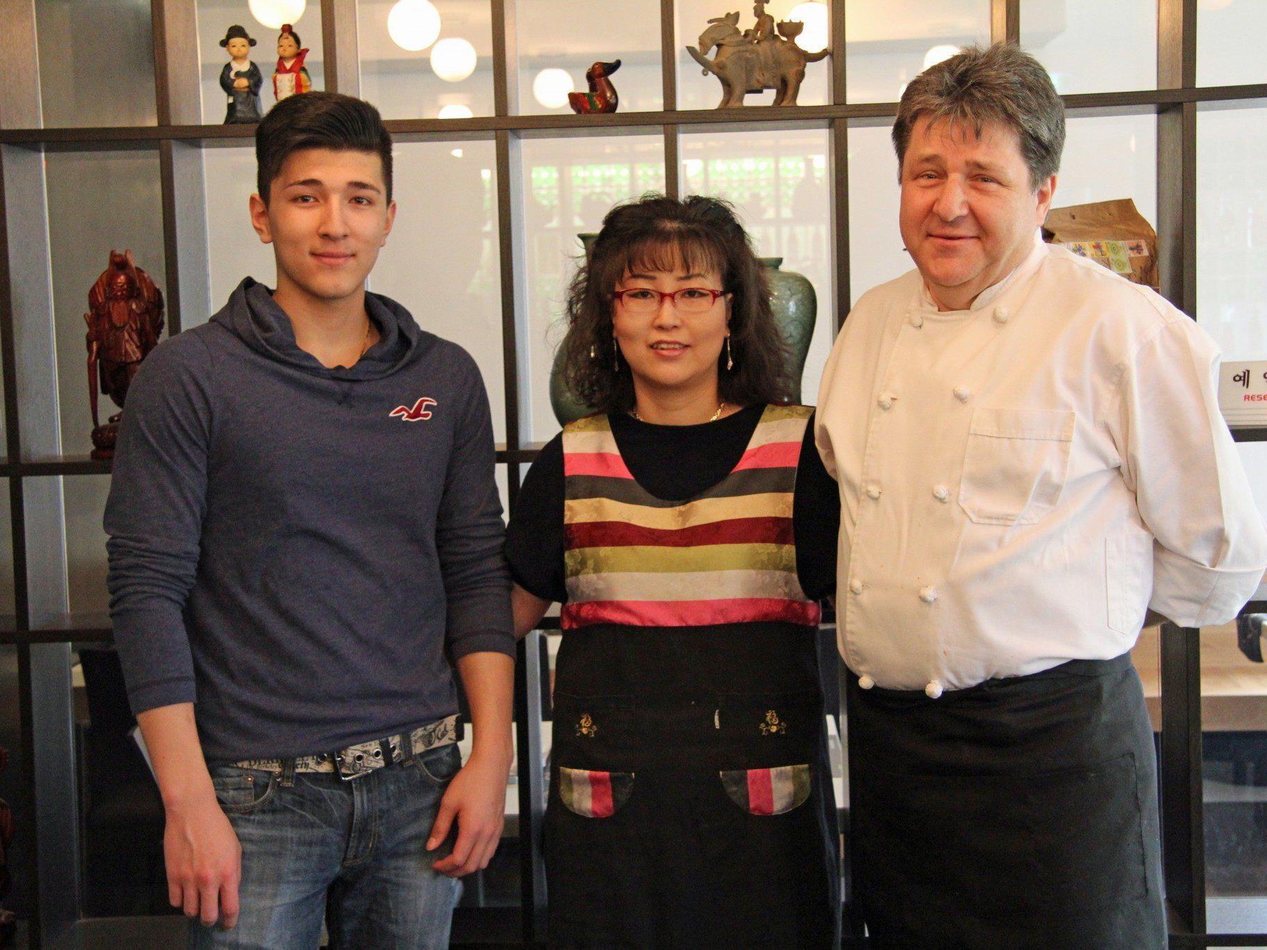 Familie Müller von Okims Restaurant in Hard.