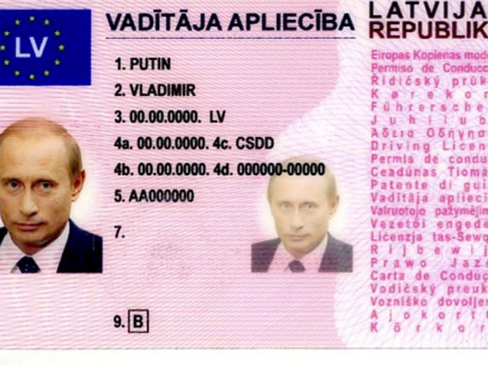Führerschein aus Spaß auf einem Flohmarkt in Russland gekauft.