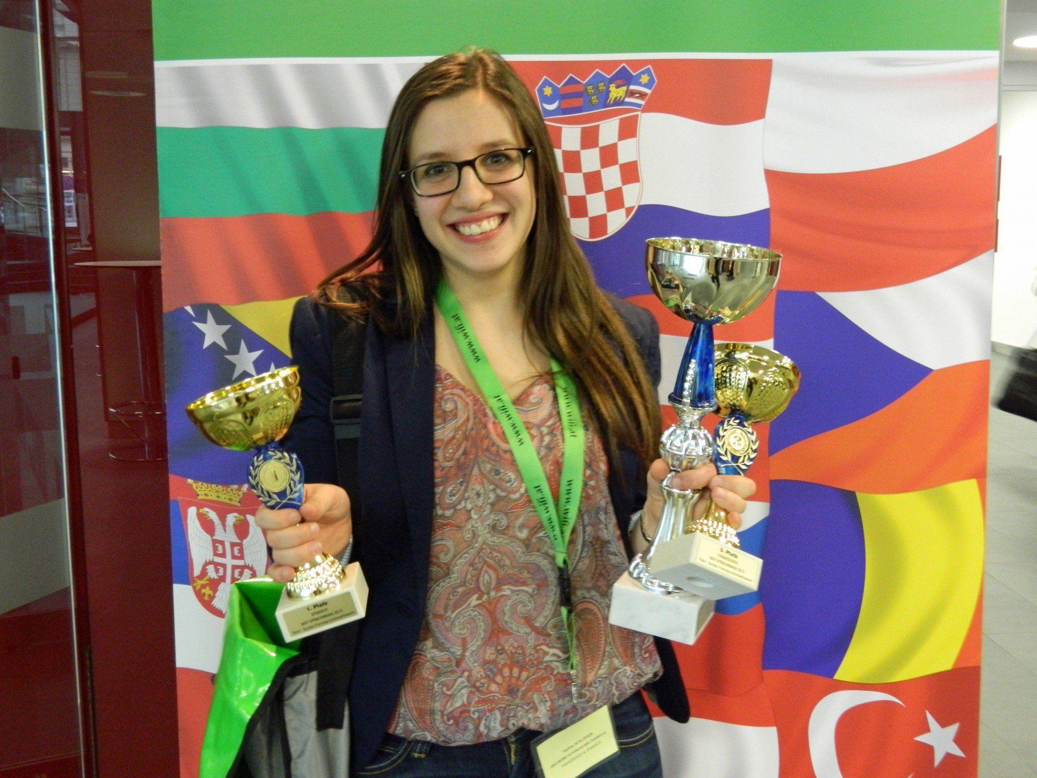 Sophia Schlosser war beim Sprachmania-Bundesbewerb gleich in mehreren Sprachen erfolgreich.